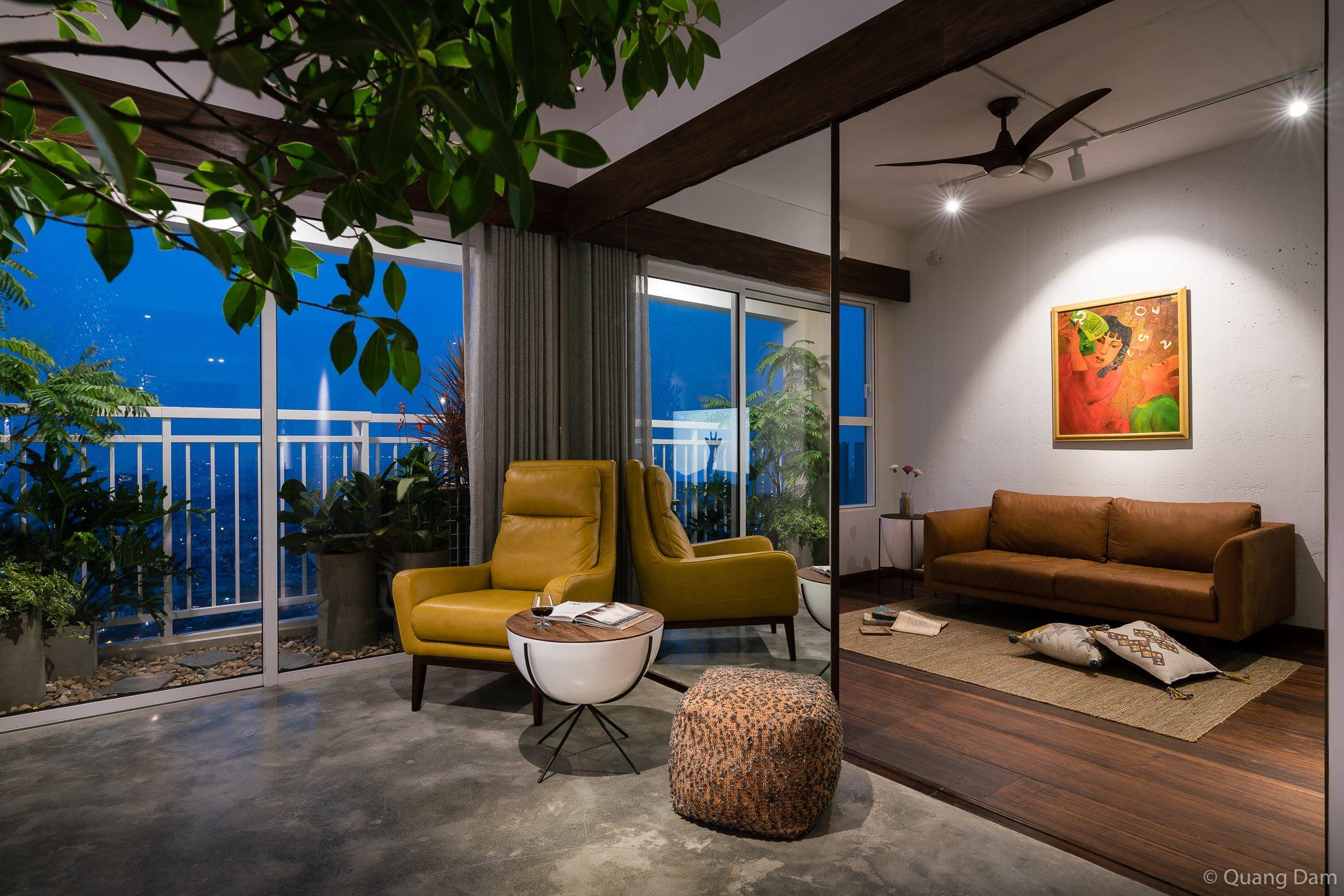 Nội thất căn hộ 1 phòng ngủ với điểm nhấn gỗ và cây xanh - Nhà Đẹp Số (4)