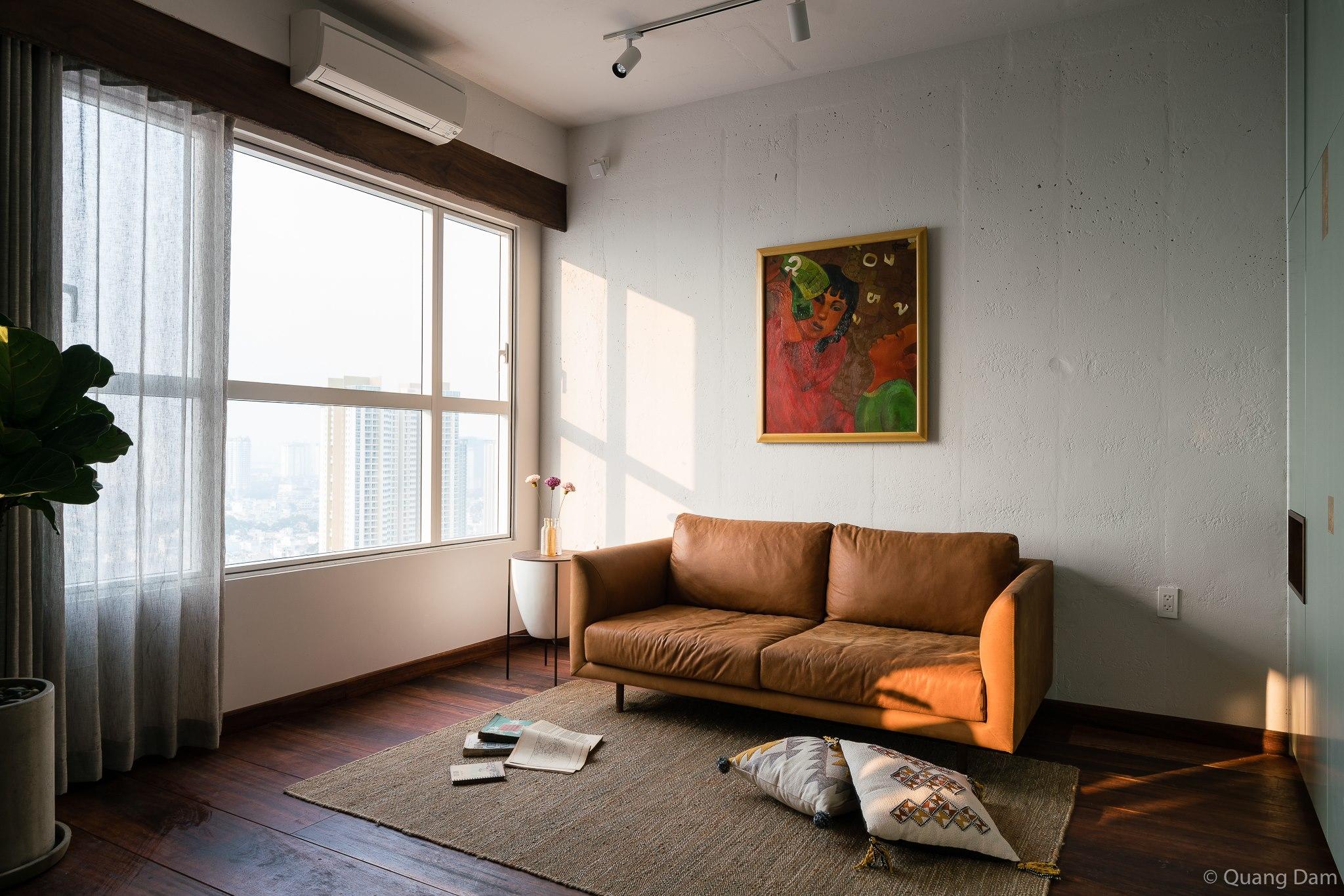 Nội thất căn hộ 1 phòng ngủ với điểm nhấn gỗ và cây xanh - Nhà Đẹp Số (7)