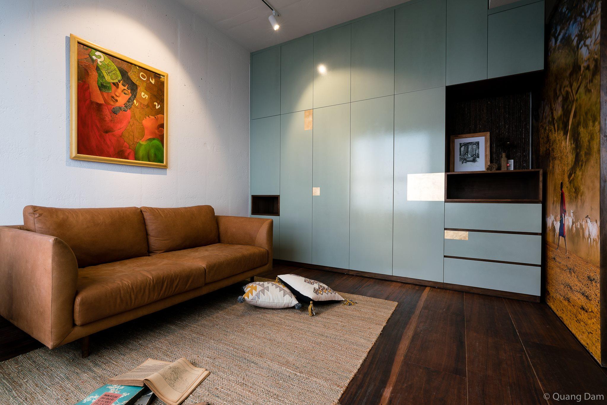 Nội thất căn hộ 1 phòng ngủ với điểm nhấn gỗ và cây xanh - Nhà Đẹp Số (8)