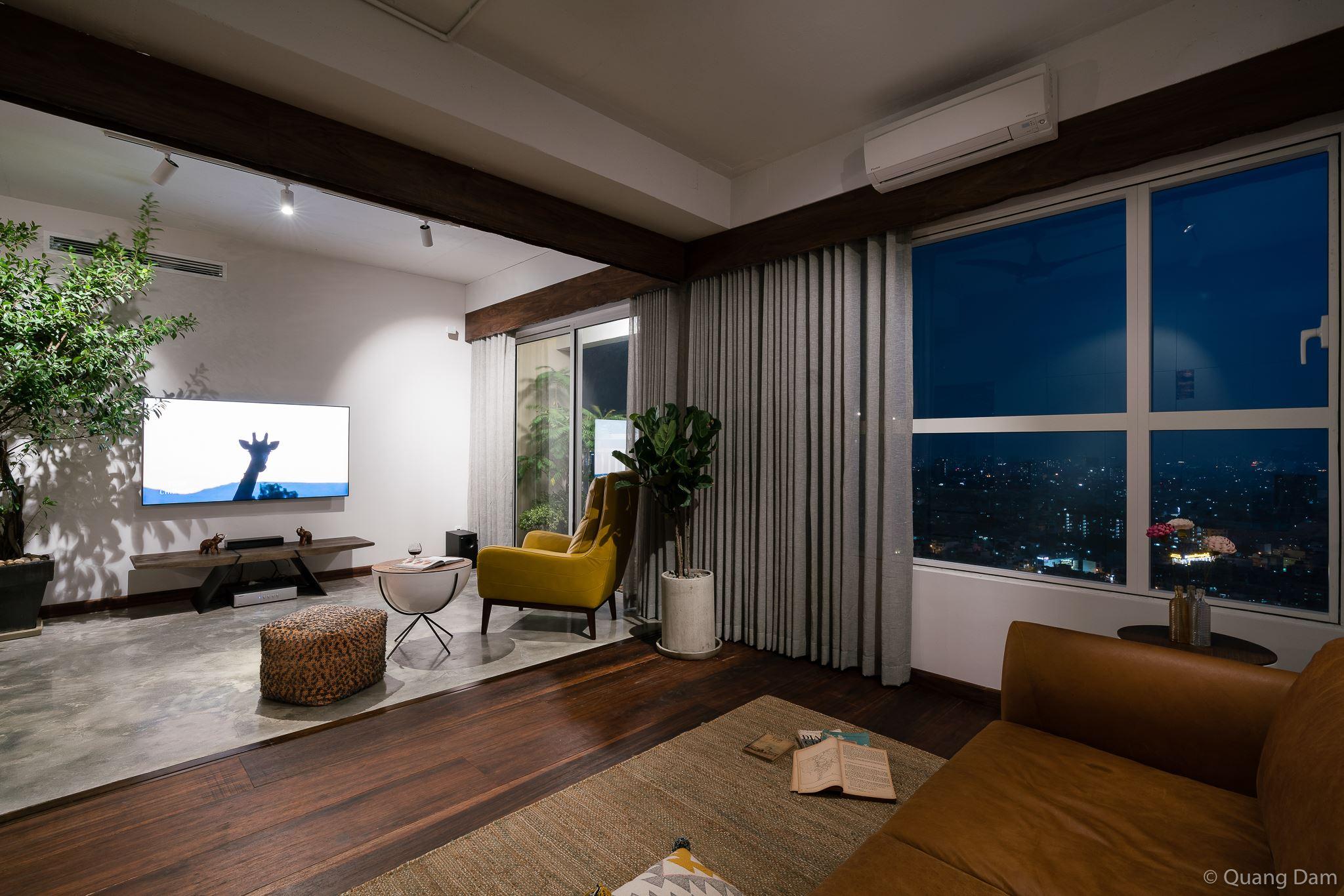 Nội thất căn hộ 1 phòng ngủ với điểm nhấn gỗ và cây xanh - Nhà Đẹp Số (9)