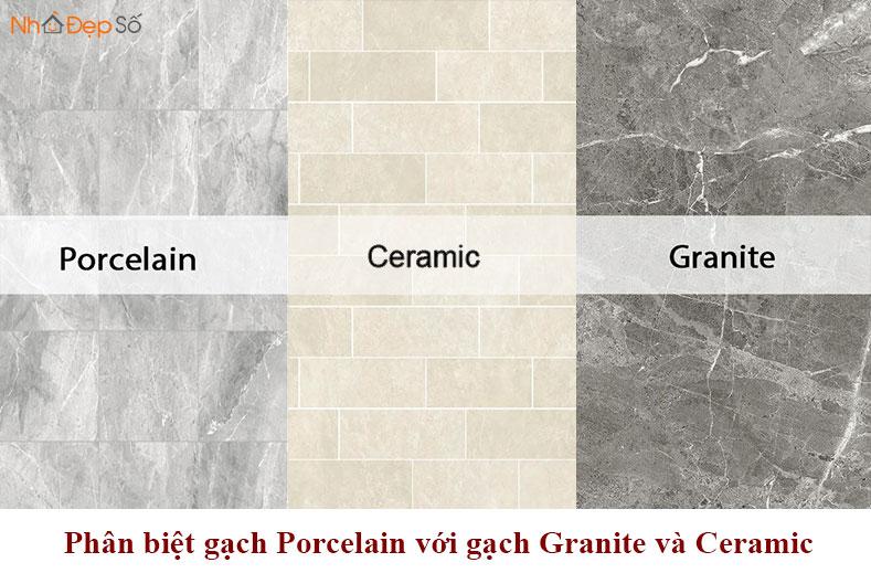 phân biệt gạch porcelain gạch granite gạch ceramic