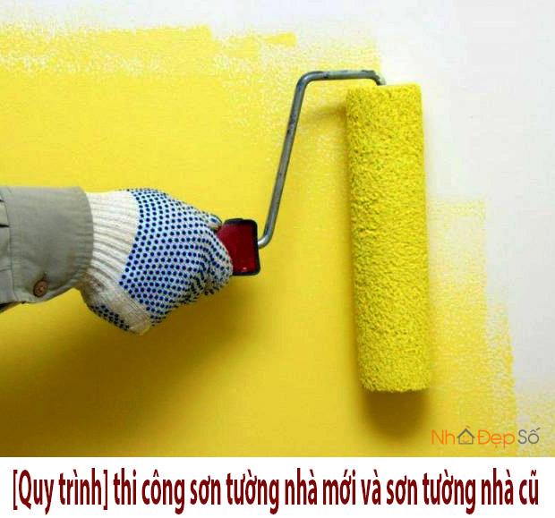 Quy trình thi công sơn tường nhà
