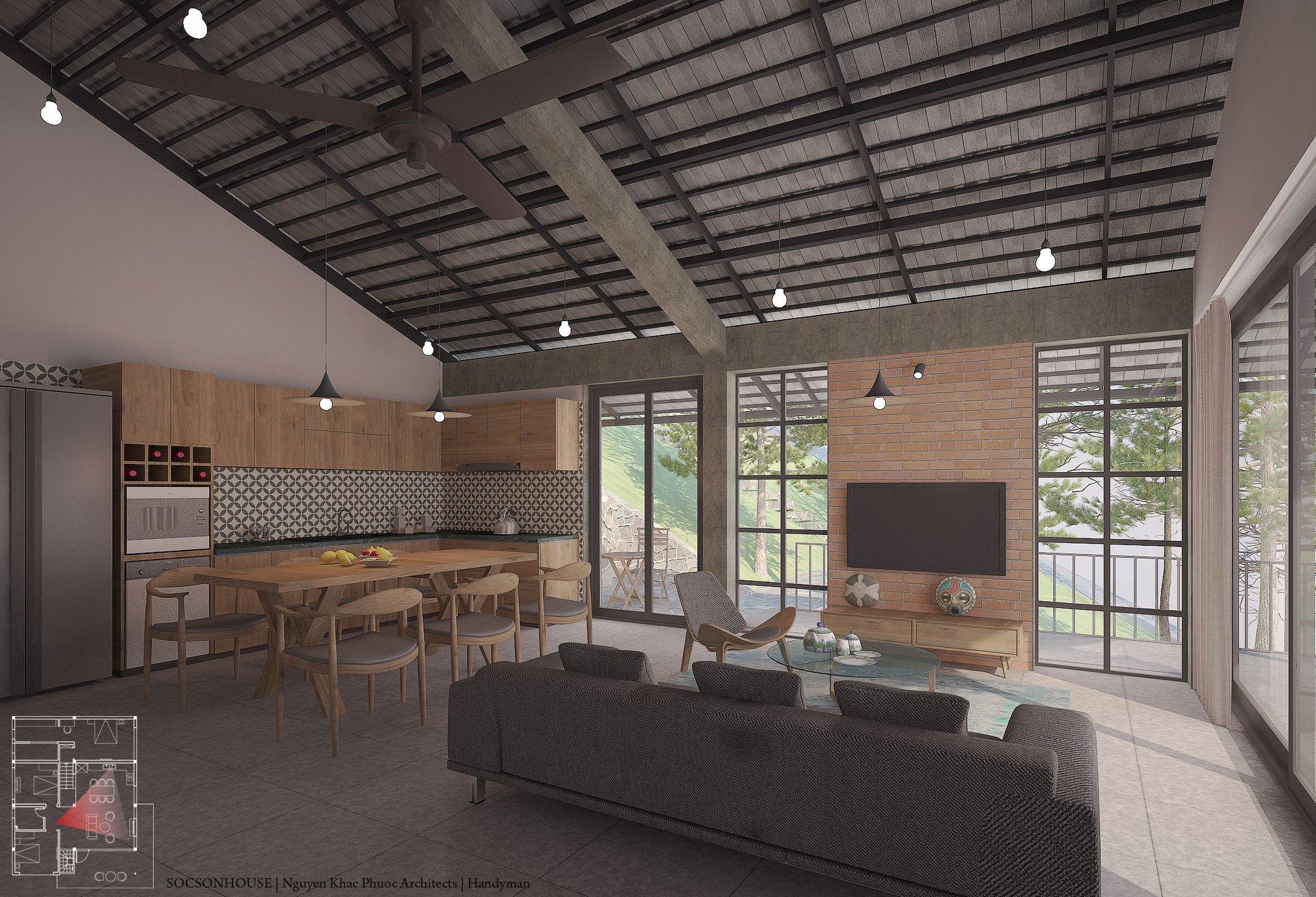 Thiết kế biệt thự đẹp mái chồng mái nằm lưng chừng núi ở Sóc Sơn - Nhà Đẹp Số (10)