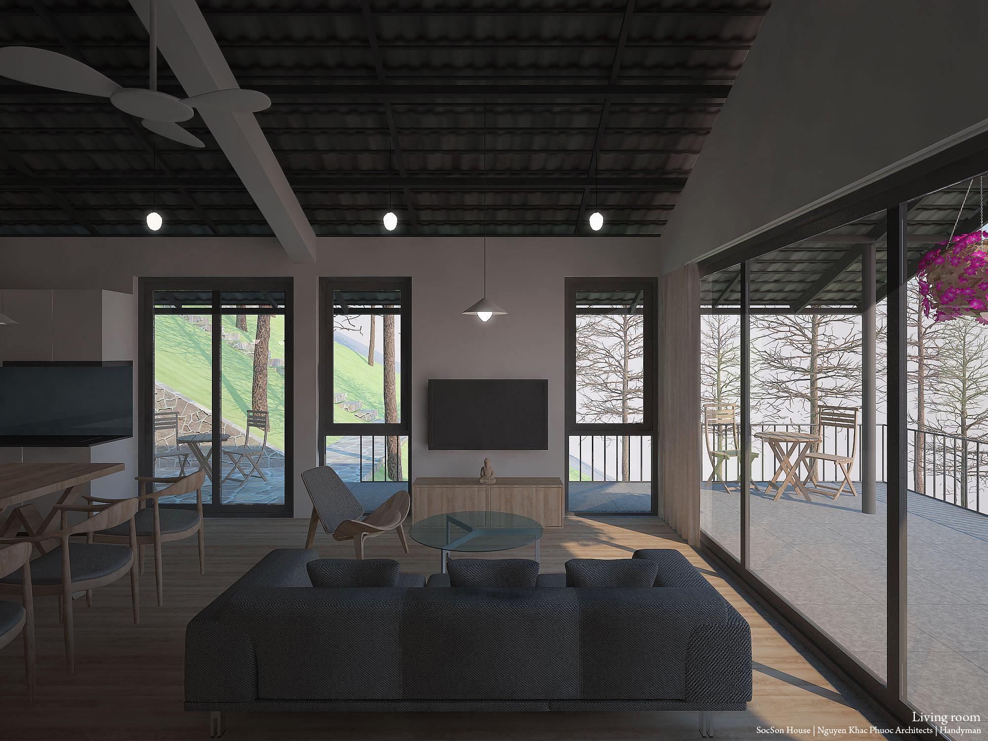 Thiết kế biệt thự đẹp mái chồng mái nằm lưng chừng núi ở Sóc Sơn - Nhà Đẹp Số (13)