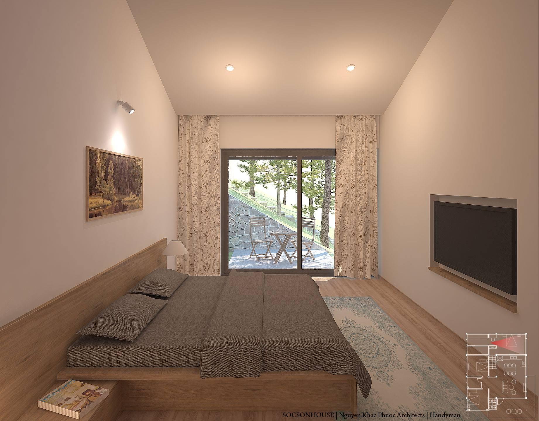Thiết kế biệt thự đẹp mái chồng mái nằm lưng chừng núi ở Sóc Sơn - Nhà Đẹp Số (16)