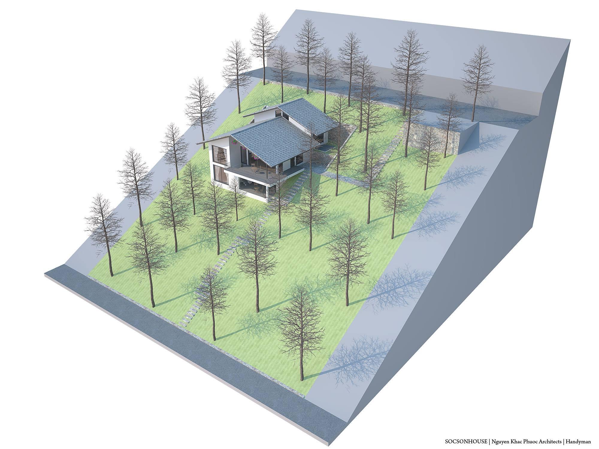 Thiết kế biệt thự đẹp mái chồng mái nằm lưng chừng núi ở Sóc Sơn - Nhà Đẹp Số (18)