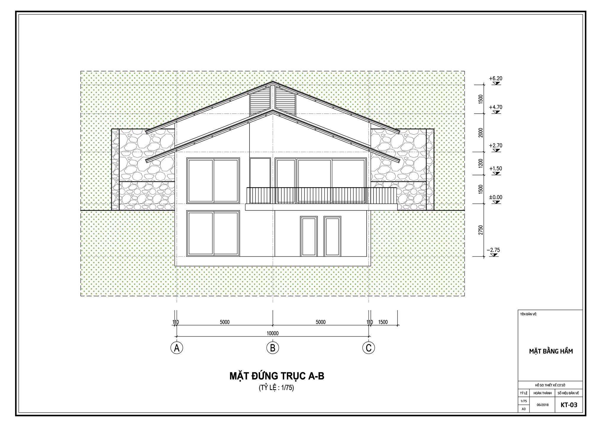 Thiết kế biệt thự đẹp mái chồng mái nằm lưng chừng núi ở Sóc Sơn - Nhà Đẹp Số (22)