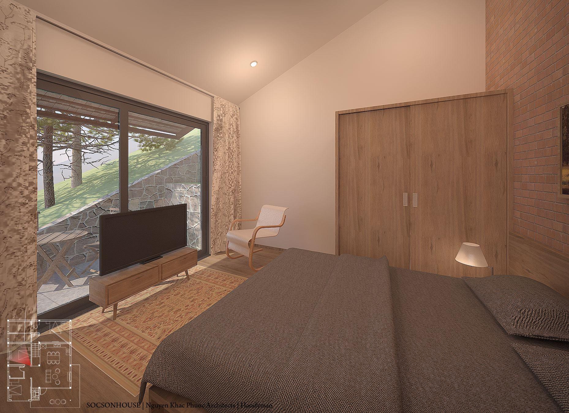 Thiết kế biệt thự đẹp mái chồng mái nằm lưng chừng núi ở Sóc Sơn - Nhà Đẹp Số (3)