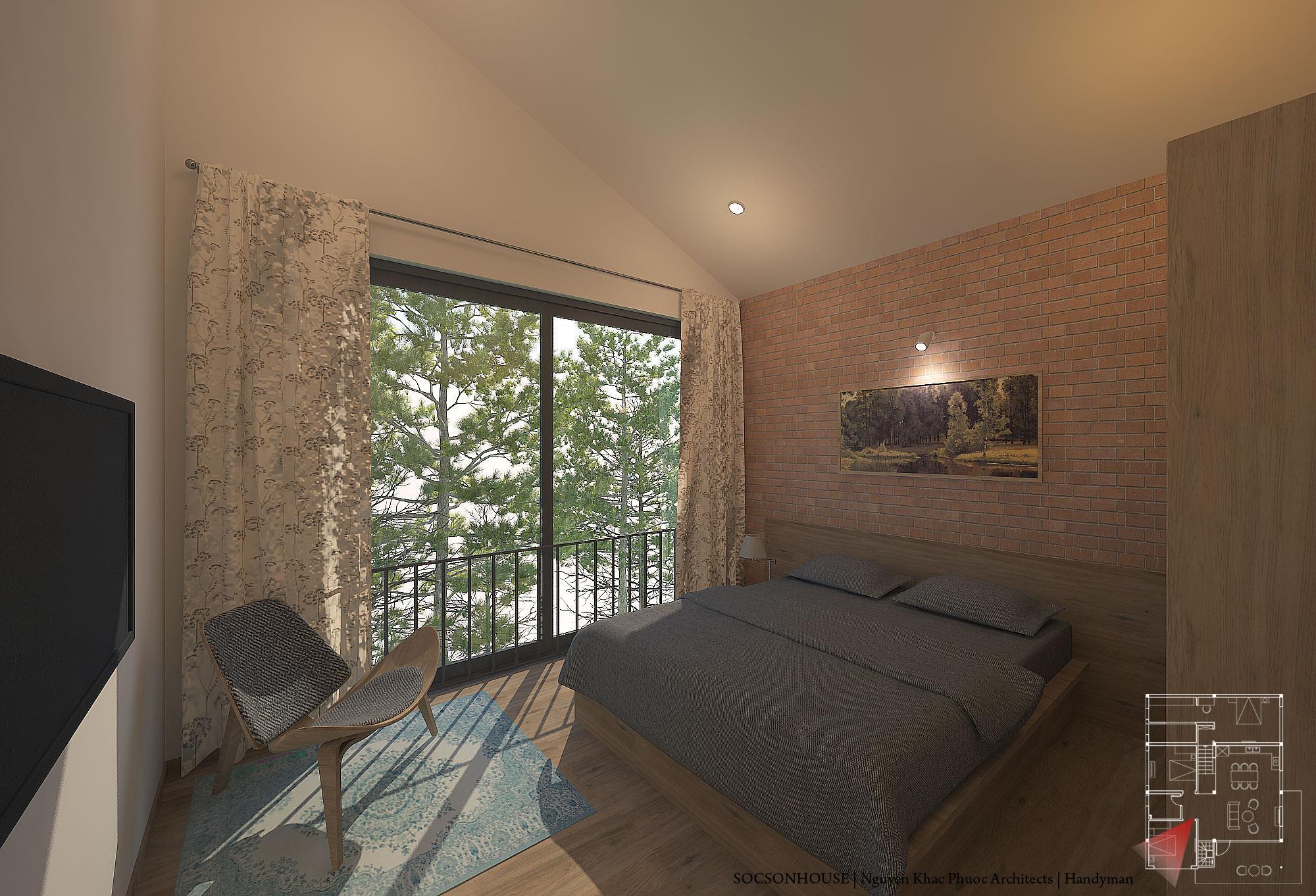 Thiết kế biệt thự đẹp mái chồng mái nằm lưng chừng núi ở Sóc Sơn - Nhà Đẹp Số (4)