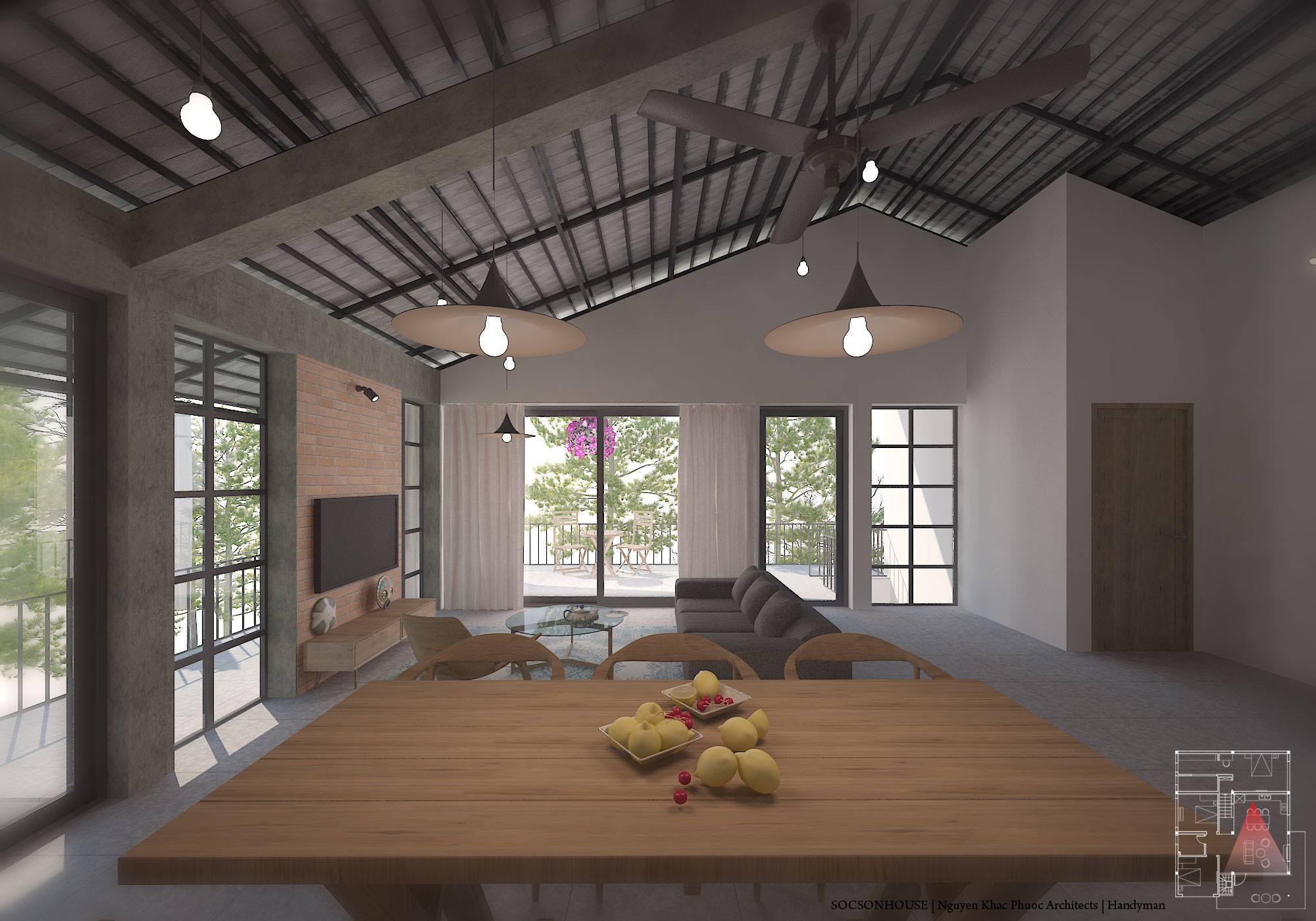 Thiết kế biệt thự đẹp mái chồng mái nằm lưng chừng núi ở Sóc Sơn - Nhà Đẹp Số (6)