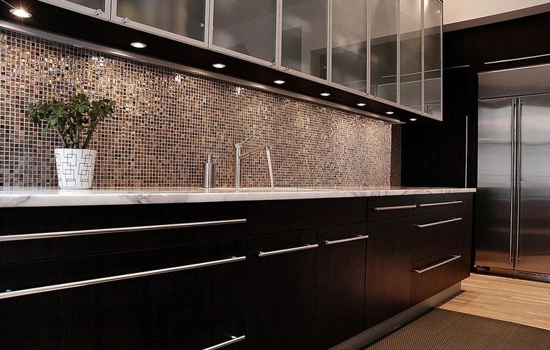 ứng dụng gạch mosaic trang trí phòng bếp