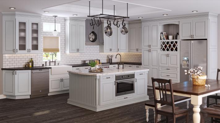 phân loại tủ bếp theo phong cách tân cổ điển