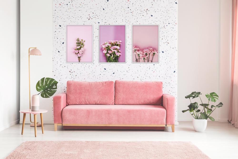 canvas dễ thương hoa cẩm chướng