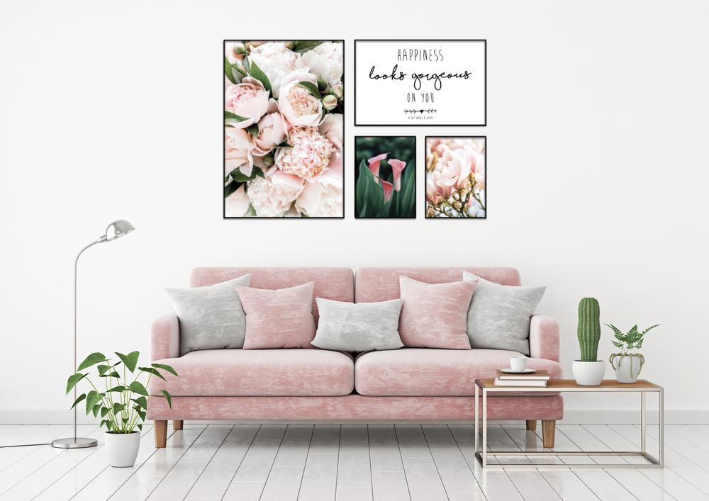 canvas dễ thương hoa hồng