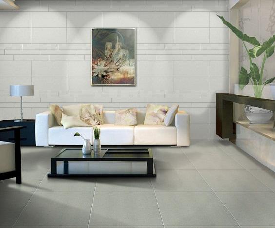 Chọn gạch lát nền phòng khách đẹp căn cứ trên diện tích