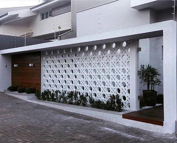 gạch bông gió xi măng sử dụng trong thiết kế cổng