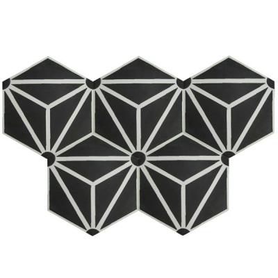 Gạch bông lục giác đen
