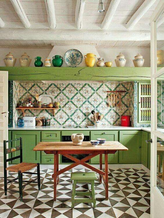 gạch lát nền nhà dành cho không gian bếp
