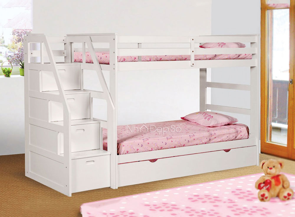 giường tầng trẻ em có bậc thang