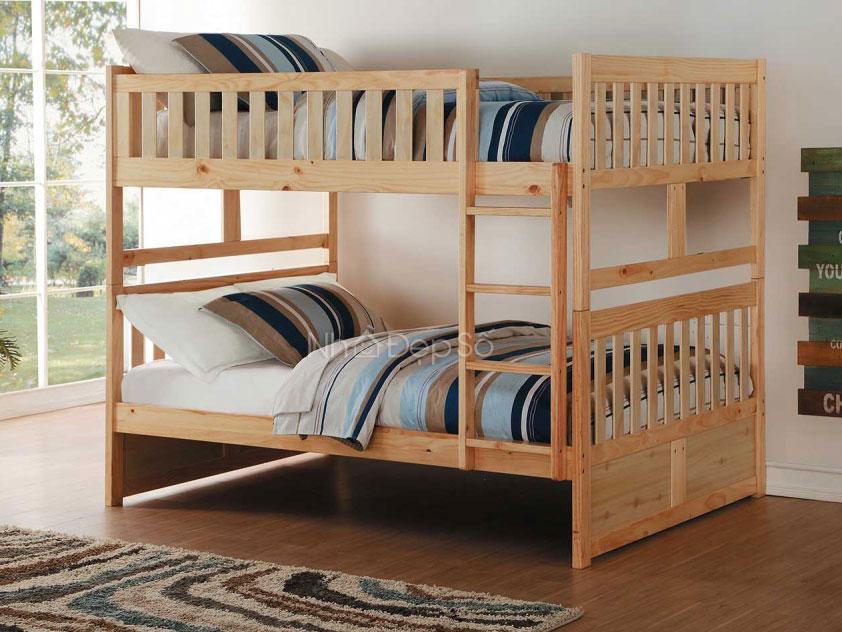 giường tầng trẻ em gỗ thông