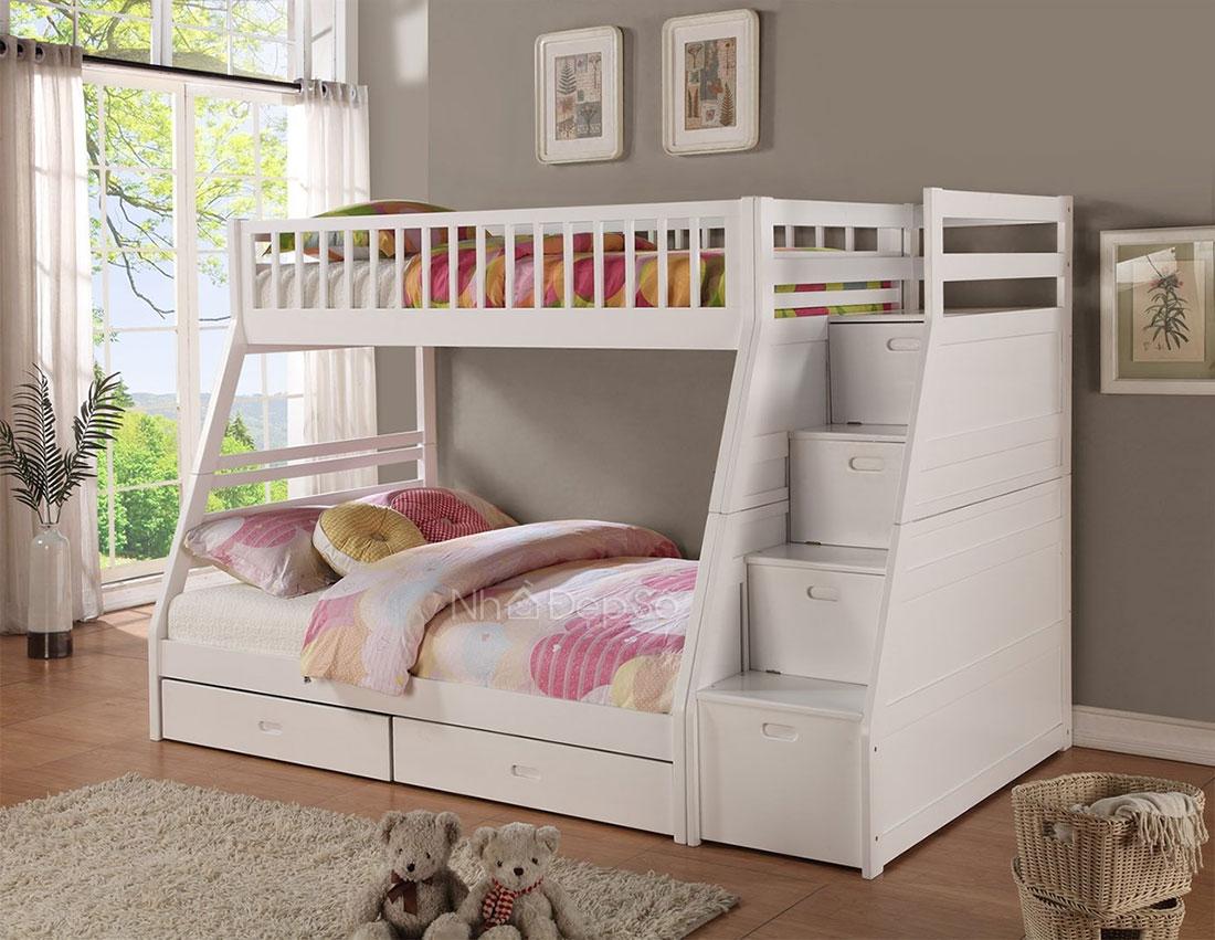 giường tầng trẻ em thiết kế đơn giản