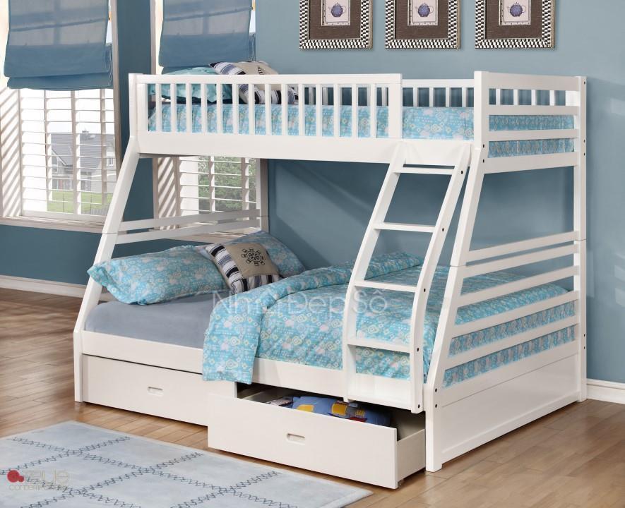 giường tầng trẻ em sơn trắng