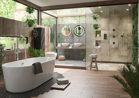 không gian xanh cho phòng tắm 3