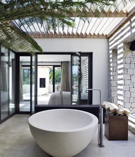 không gian xanh cho phòng tắm 4