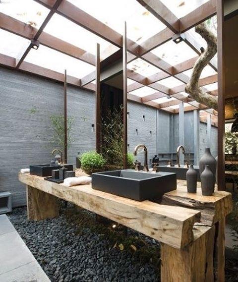 không gian xanh cho phòng tắm 7