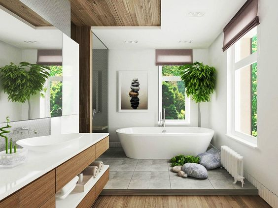 không gian xanh cho phòng tắm 8
