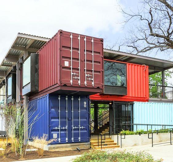 mẫu nhà container nhiều tầng