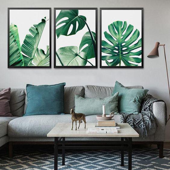 canvas dễ thương hạo tiết nhiệt đới