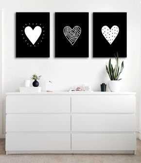 canvas dễ thương trái tim