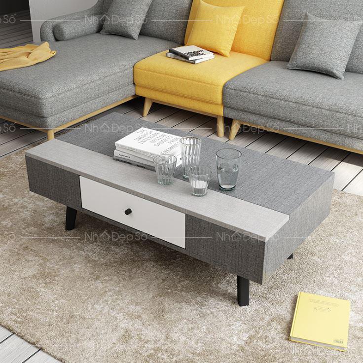 Bộ bàn ghế sofa trắng, xám cho phòng khách.