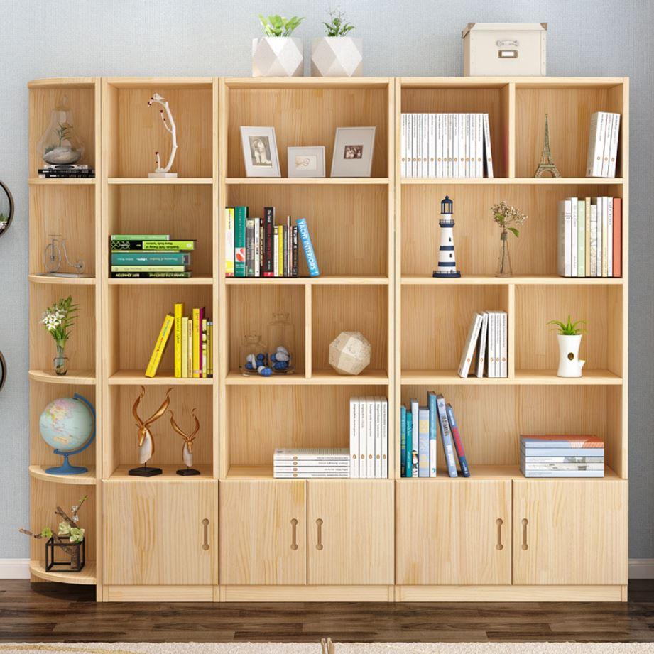 kệ sách chất liệu gỗ thông cao cấp