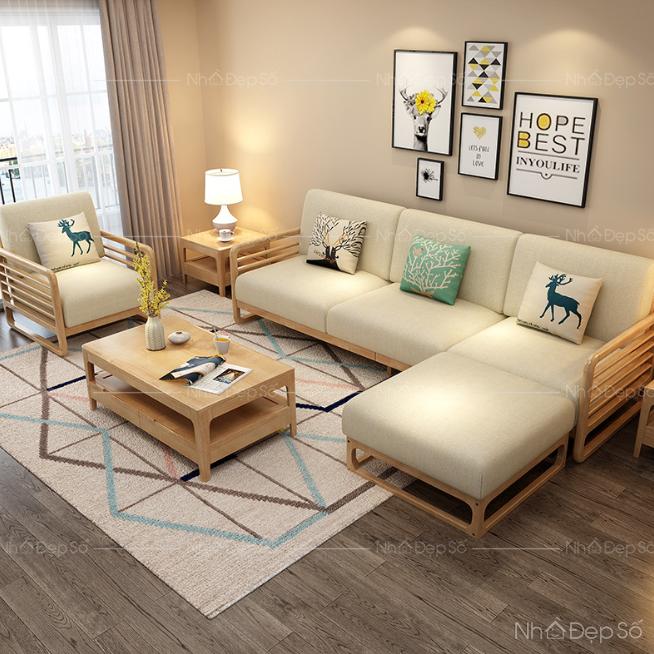 Màu sắc sofa hài hòa với màu sắc nội thất.