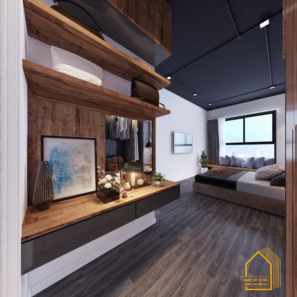 nội thất gỗ cao cấp tông màu xám