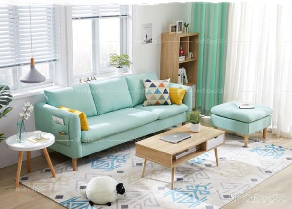 Sofa gỗ sồi Nga cho phòng khách.