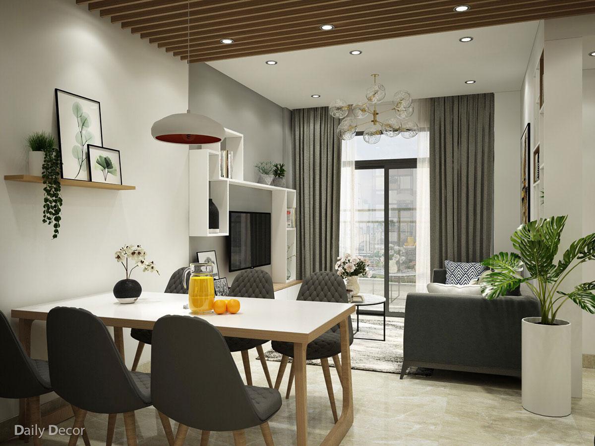 căn hộ sang trọng với nội thất trung tính