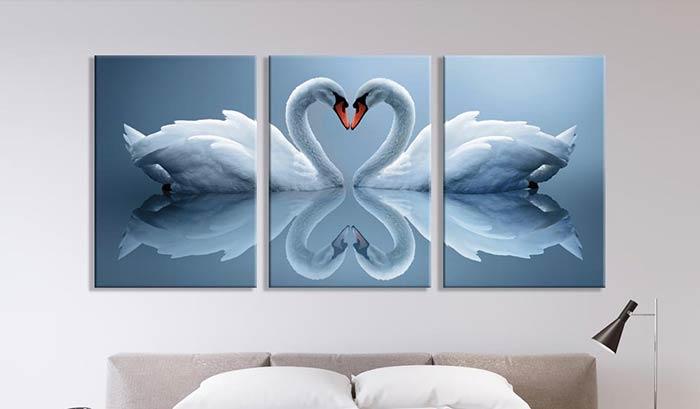 Bộ tranh canvas Đôi Thiên Nga ngọt ngào phù hợp hơn bao giờ hết cho những cặp vợ chồng son