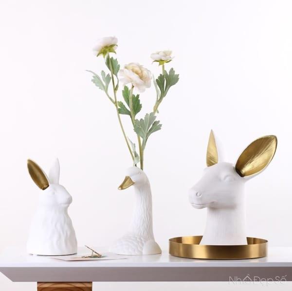 Bình hoa động vật cho các không gian nội thất cá tính.