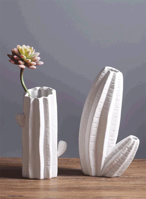 Bộ bình cắm hoa hình xương rồng