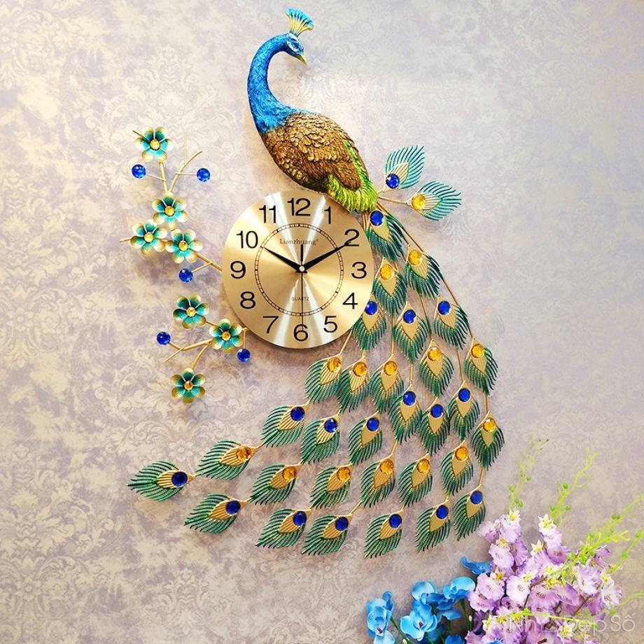 Đồng hồ treo tường nghệ thuật hình con công