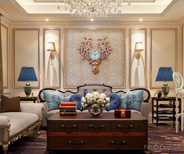 Đồng hồ treo tường hợp kim nhôm cao cấp đang là xu thế trong trang trí phòng khách.