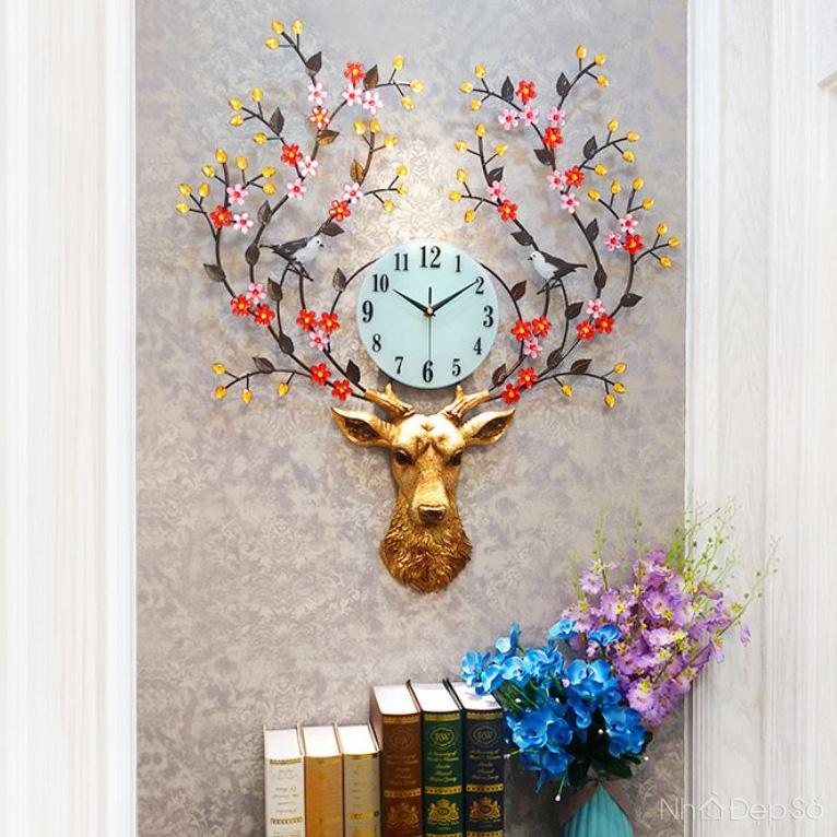 Đồng hồ treo tường Hoa Mai Thiên Lộc