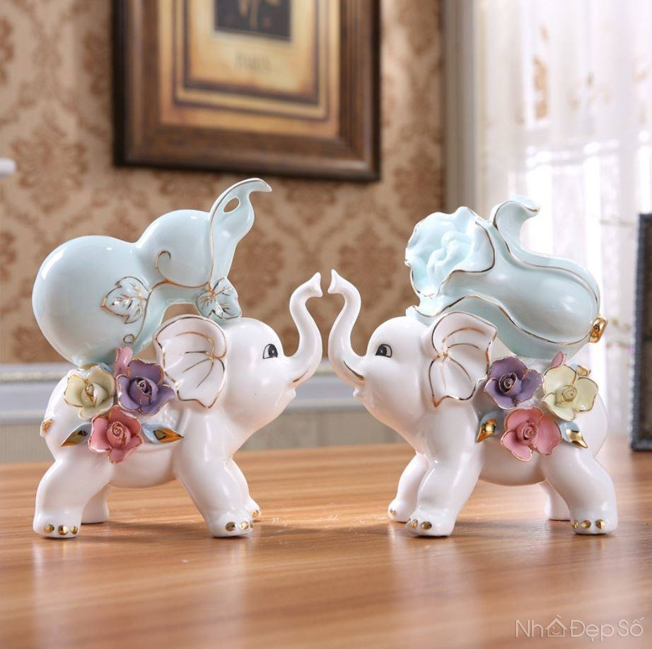 Bộ tượng voi chầu NDS160