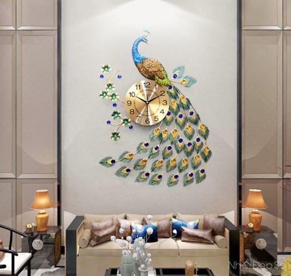 Xu hướng trang trí phòng khách hiện đại bằng đồng hồ lên ngôi.