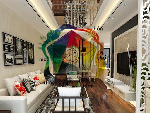 Màu sắc, chất liệu gạch lát nền phòng khách phải hợp phong thủy.