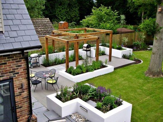 mẫu sân vườn hiện đại đường nét kỷ hà