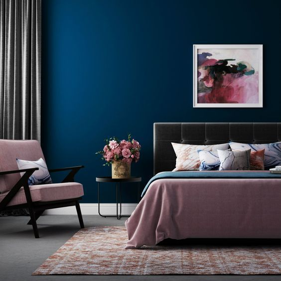 Phòng ngủ màu xanh Navy
